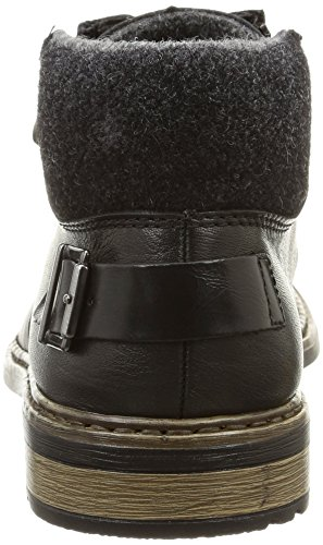Rieker  F1230-25, Bottes Classics courtes, doublure froide homme Noir