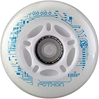 Powerslide Rollen Nightwheels Fothon 4-Pack - Ruedas para Patines en línea, Color Transparente, Talla 110mm