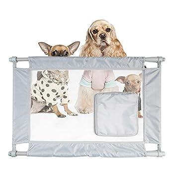 Animal Vie Pga1gy Filet en nylon de sécurité pour animal domestique Chat Chien portail avec entrée à fermeture Éclair, taille unique, gris