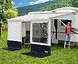 Markisenzelt Villa Store Premium Anbauhöhe: 250-280cm Farbe: schwarz/grau Länge: 5,0m