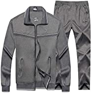 Men's TrackSuits Sports Sweatsuits Full Zip Jackets Athletic Sweat Suits Sport S