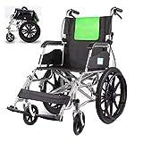 Transportrollstühle Leichter Rollstuhl, zusammenklappbarer, atmungsaktiver Cellular Mesh Trolley, Seniorenreisecooter, 20-Zoll-Vollgummireifen, mit Pedal und Handbremse, für Erwachsene, Behinderte,
