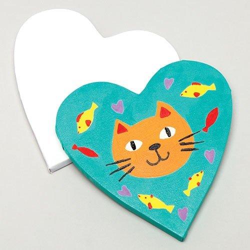 Herz Leinwand (Baker Ross Herzförmige Leinwände 19,5 cm x 17 cm für Kinder zum Malen - 150 ml für Kunstprojekte von Kindern (2 Stück))