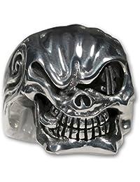 Ring Stahl Edelstahl Totenkopf Skull Biker Unisex Partnerring Schädel Rocker