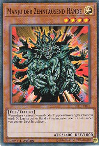 HISU-DE047 - Manju der Zehntausend Hände - Super Rare - Yu-Gi-Oh - Deutsch - 1. Auflage - LMS Trading