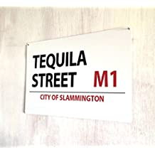 Tequila placa de calle retro de cartel de chapa, Retro, A4