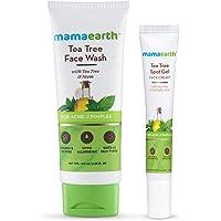 Mamaearth Tea Tree Face Wash – 100ml + Tea Tree Spot Gel Face Cream – 15 g