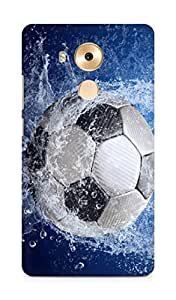 Amez designer printed 3d premium high quality back case cover for Huawei Mate 8 (soccer)