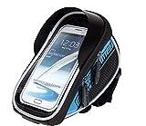 Toptrek Fahrradlenker-Tasche, wasserfest, mit Platz für Mobiltelefone bis 13,97cm (5,5Zoll) Displaygröße, Tasche für Radsport, silber, 5.5
