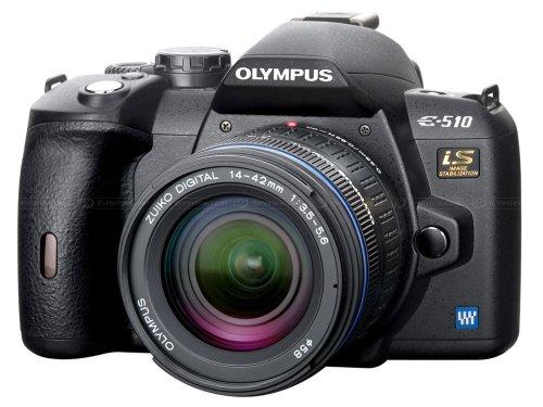 Olympus E-510 SLR-Digitalkamera (10 Megapixel, LifeView, Bildstabilisator) inkl. EZ1442 14-42mm