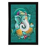 Delight Blessing Ganesha Digital Printed...