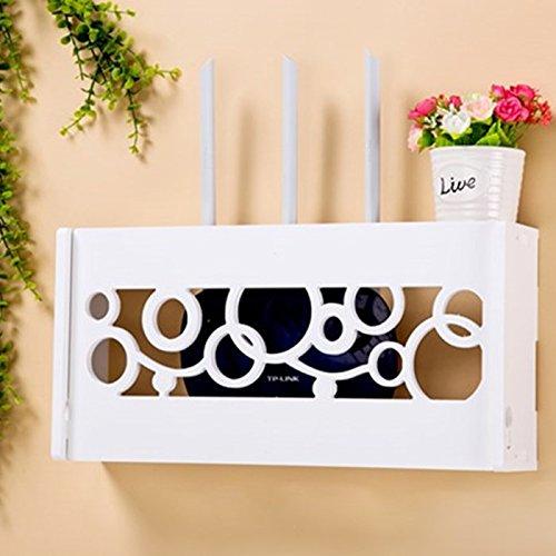Appendere Contenitori decorativi stoccaggio scatole Set-Top Boxes appeso a parete rack Punch-Free Router Wireless parete,il nuovo coperchio circolare Router Dot