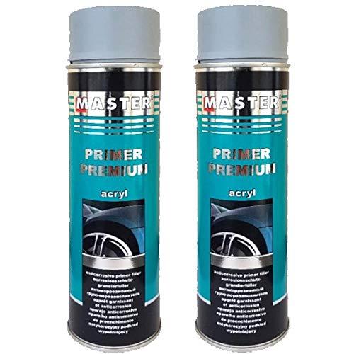 Troton – 2 x 500 ml de imprimación Premium Primer Protección de Corrosión Spray imprimación acrílico para Suelo de Coche