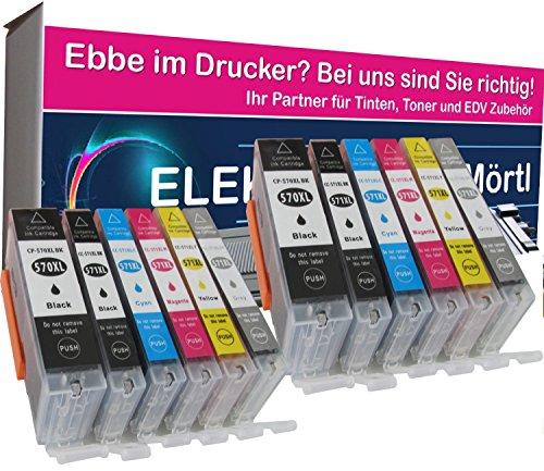 Preisvergleich Produktbild 12 komp. XL Druckerpatronen für Canon Pixma TS 8050 8051 8052 8053 9050 9055 mit grau