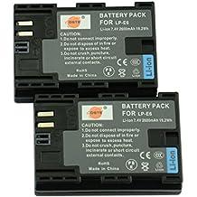 DSTE 2x LP-E6 de remplacement Li-ion Batterie pour Canon EOS 5DS, EOS 6D, EOS 7D, EOS 60D, EOS 60Da, EOS 70D, EOS 5D Mark II, EOS 5D Mark III