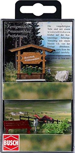 Busch 1144 - Ortseingangsschild aus Holz Fertigmodell Preisvergleich