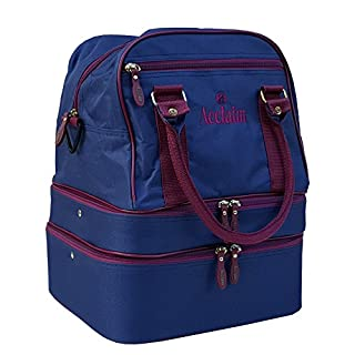 Acclaim Blyth Nylon Four Bowl Level Lawn Flat Green Short Mat Mini Triple Decker Bowls Bag (Navy/Burgundy)