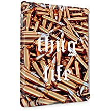 Thug Life Military Ammunition Weapons Golden Bullets Custodia Posteriore Sottile In Plastica Rigida Cover Per iPad 2 & iPad 3 & iPad 4 Slim Fit Hard Case Cover