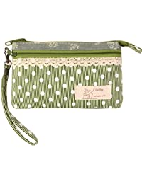 KISS GOLD (TM) Mini Handytasche Geldbeutel mit Polka Dots für Damen und Mädchen