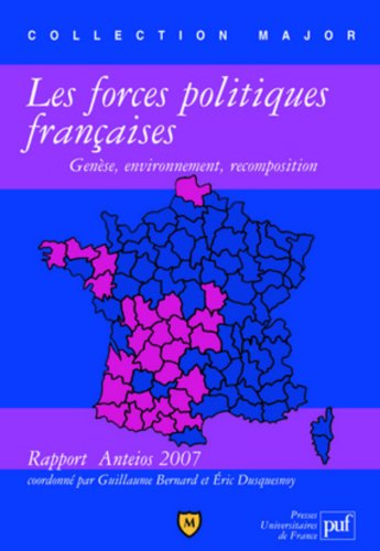 Les forces politiques françaises : genèse, environnement, recomposition : Rapport Anteios 2007