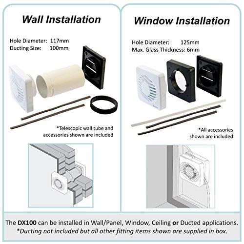 Xpelair ventilatore assiale con timer e umidostato per wc for Ventilatore con nebulizzatore per interni