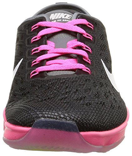 Nike - Wmns Zoom Fit Agility - , homme, multicolore multicolore (Black/White-Pink Pow-Cool Grey)