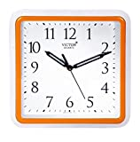 #4: Victor Plastic Analog Wall Clock (26 cm x 26 cm x 5 cm, Orange)