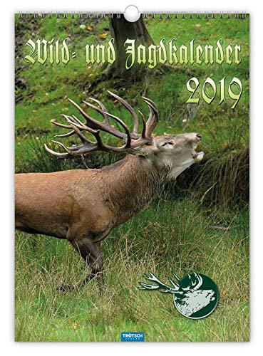 Wild- und Jagdkalender 2019 Großformat Wandkalender Naturkalender Tierkalender: Mit aufwendiger Rückseitengestaltung