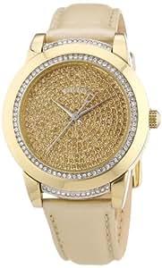 DKNY Damen-Armbanduhr Analog Quarz Edelstahl beschichtet NY8688