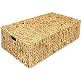 geflochtener korb aus weidenholz unter bett aufbewahrungskorb mit deckel. Black Bedroom Furniture Sets. Home Design Ideas