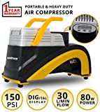 Best Portable Air Compressors - AllExtreme AE-T1S Portable Electric Auto Air Compressor Tire Review