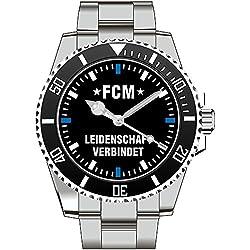 FCM -Leidenschaft verbindet Fan Supporter Herren Armbanduhr 2396