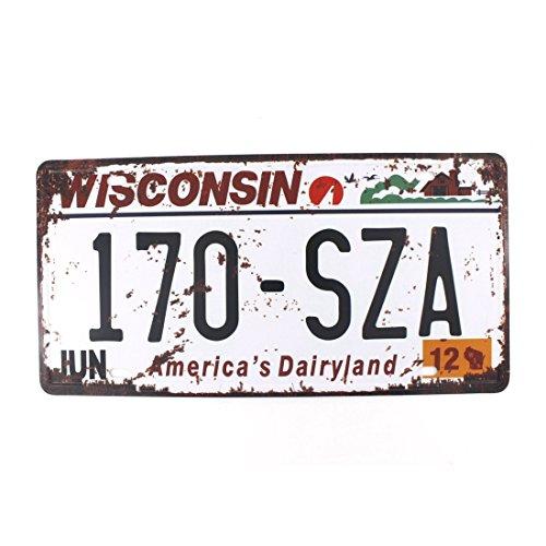 Eureya Wisconsin 170-sza Auto Nummernschild Auto Tag Home/Cafe Bar/Pub/Restaurant/Ausstellung Wand Decor Vintage Plaque