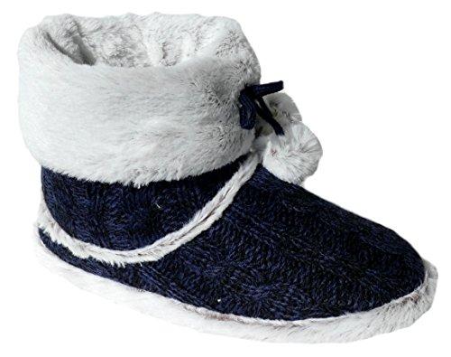 gibra , Chaussons pour femme bleu foncé