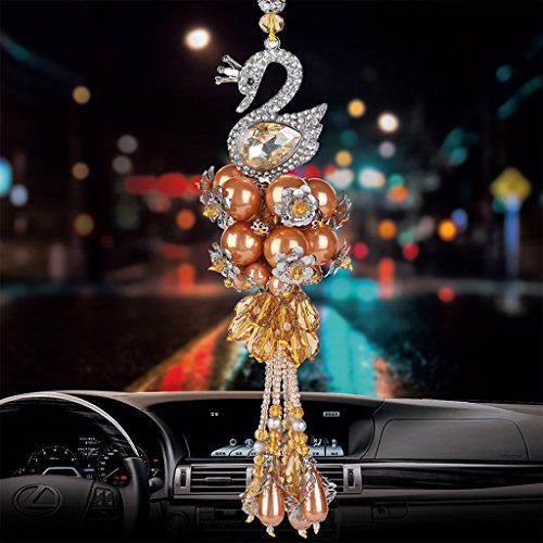 The Car In The Car Hanging gioielli ciondolo in cristallo ciondolo ornamenti ( Color : Orange )