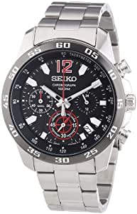 Seiko Herren-Armbanduhr Chronograph Quarz Edelstahl SSB129P1