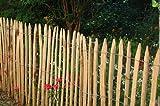 Staketenzaun aus Kastanienholz H=150cm, L=5m, Staketenabstand=5cm