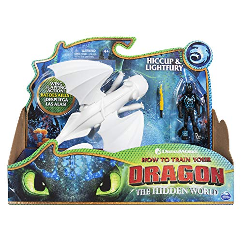 Dragons 6052266 Viking Lightfury & Hiccup, Mixed Colors