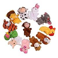 The Best Toy Gift,Winkey 12Pcs Chinese Zodiac Soft Animal Puppet Finger Toys Plush Toys