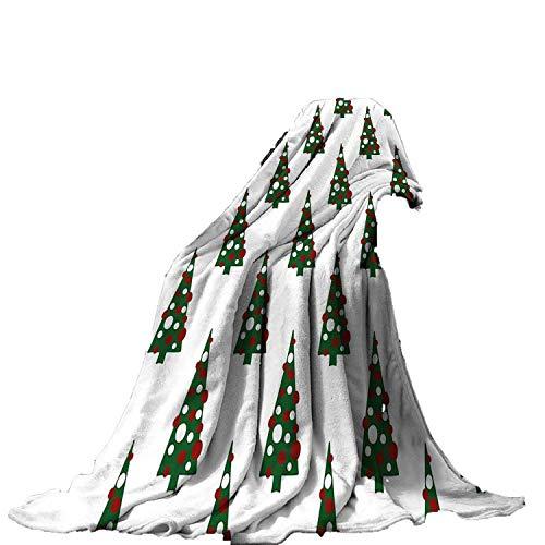 Margot-Charismatic-Blanket Arbre de Noël Couvre-lit géométrique Celebration Cadeaux Traditionnels Vacances Icon Chaud Plaids Lits Moderne 150x200cm comme sur l'image