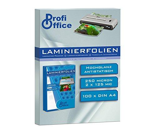 ProfiOffice Laminierfolien, DIN A4, 2 x 125 Mikron, 100 Stück (19014)