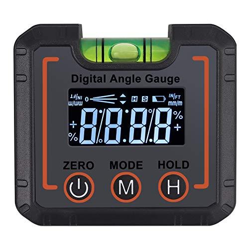 AUTOUTLET Digitaler LCD Neigungsmesser, Winkelmesser Schrägkasten/Winkelfinder Digital Magnetic Angle Gage Level/Protractor/Bevel Gauge, °/{b9e0e4abf53c0b861ab178adfbc1a00309fee833280ef6212b7946f85dc14c3c} / mm/m/IN/FT Maßeinheit, mit horizontalen Blasen