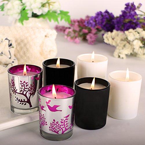 Humbgo Duftkerzen 6 Stück Aromatherapie-Set von Duft Soja-Wachs, Gardenie, Zitronengras, Kiefer, Vanille, Lavendel, Pfefferminz, Soja-Kerze für Stressabbau, Weihnachtsgeschenk (100% Soja-kerze Reines)