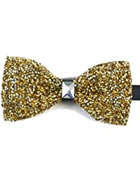 Rhinestone covered Bow tie gold colour
