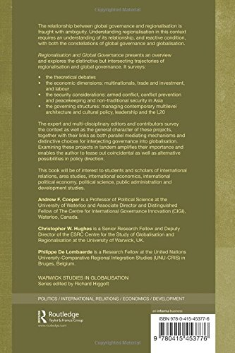 Regionalisation and Global Governance: The Taming of Globalisation? (Routledge Studies in Globalisation)