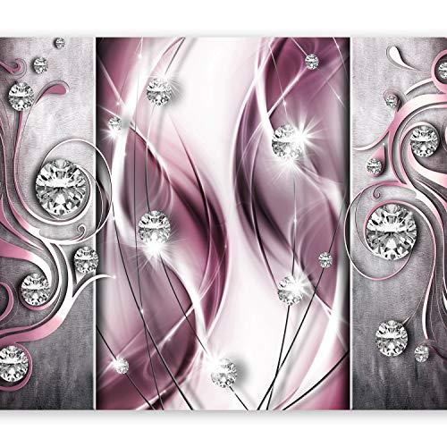 murando - Fototapete Abstrakt 350x256 cm - Vlies Tapete - Moderne Wanddeko - Design Tapete - Wandtapete - Wand Dekoration - Diamant violett rosa pink a-A-0153-a-d