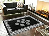 #10: New Style VG Single Piece Ethnic Velvet Touch Abstract Chenille Carpet _Grey_5x7 Feet