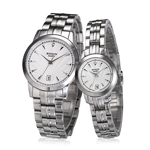 binlun-his-and-hers-match-watch-for-wedding-engagement-anniversary-silver