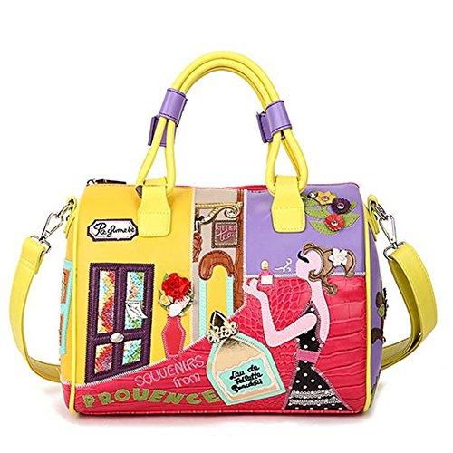 manual-de-keller-boston-para-mujer-piel-sinttica-bolso-correa-bolsa-de-hombro-satchel-bolso-color-ta