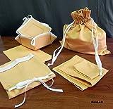 Completo con 6 productos de cocina - línea de color (delantal, guantes de cocina, trapo de cocina, bolsa para el pan, mantel para el desayuno con servilleta, panera) colores para elegir